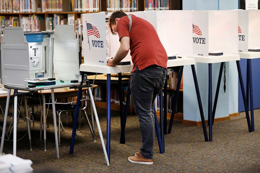Depending on their polling place, voters may see paper ballots or voting machines, although most Dane County polling places now use electronic voting machines.