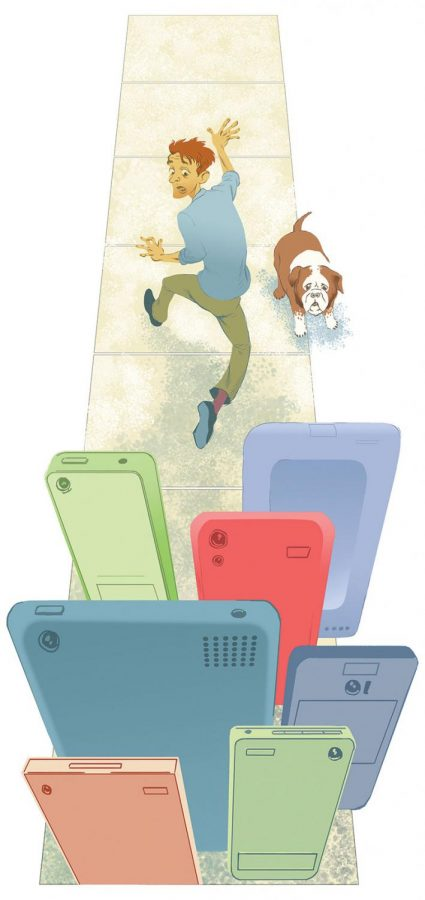 Stressed students may consider just running away from technology!