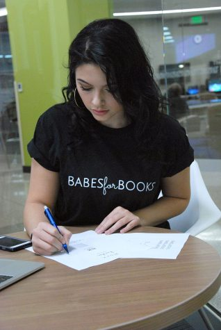 "Madison College student Ardita ""Dita"" Hashani is the founder of ""Babes for Books,"" a fashion company."