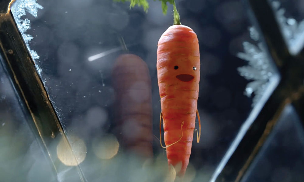 Kevin the Carrot is the star character in Aldi's new animated holiday commercial.