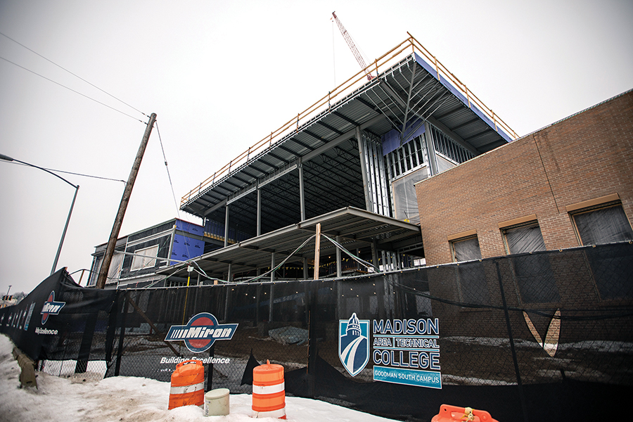 Construction progresses at Madison College's new South Campus