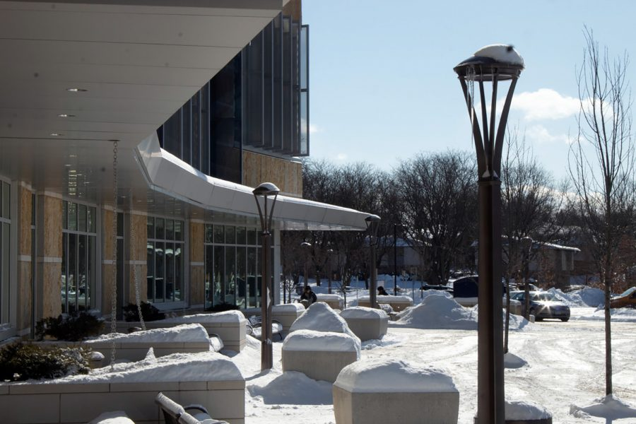 Madison College's Truax Campus sits nearly empty after an early dismissal on a day in January due to extreme wind chills.