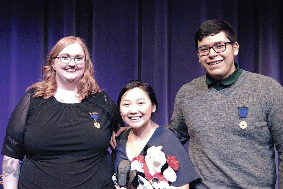 Left to right: Brandy Nobles, Kalia Vang and Jhoan Cosme-Torres