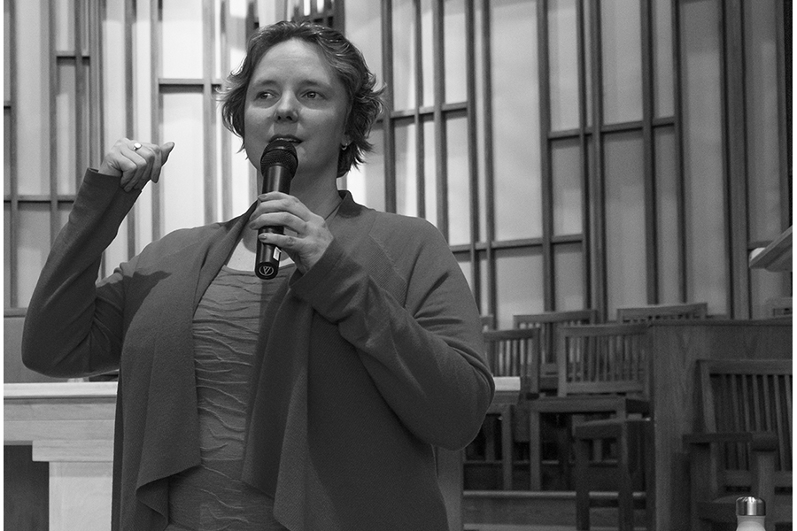 Newly elected Madison Mayor Satya Rhodes-Conway speaks at forum prior to the April election