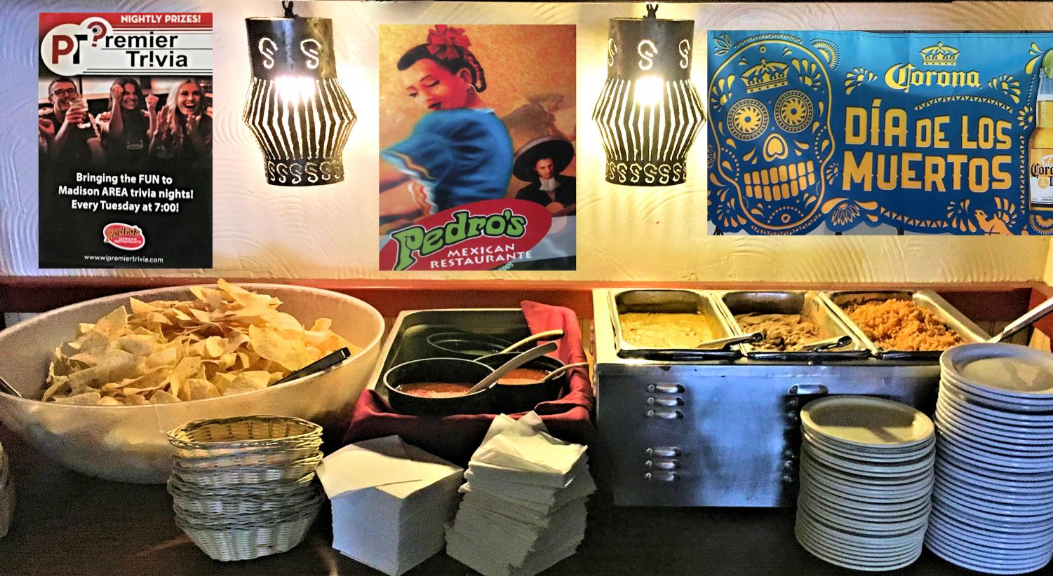 Free snacks and weekly events at Pedro's