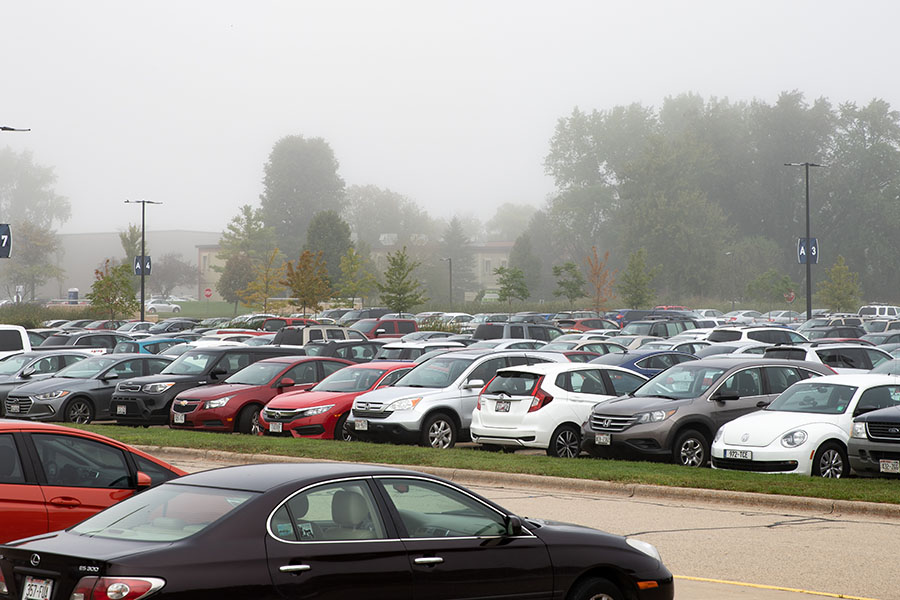 The filled parking lots that have greeted Madison College students at the start of the semester have led to some familiar strategies for those seeking a spot.