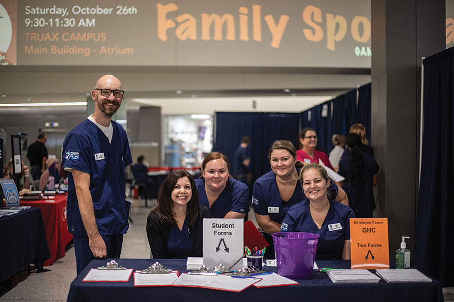 Nursing students have been helping provide free flu shots on campus to students, staff and faculty throughout the month of October. Getting your flu shot is a great way to protect your health and that of others.