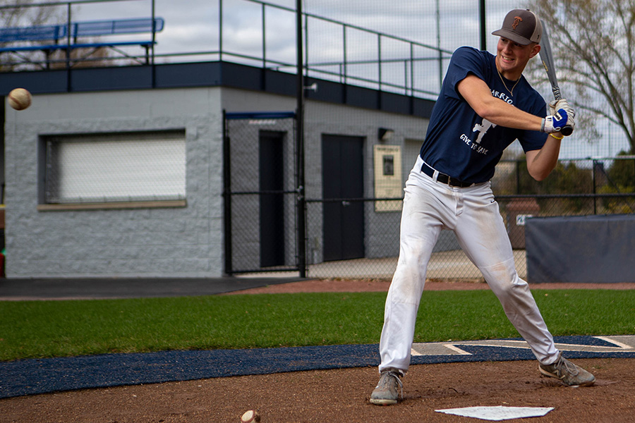 Madison College baseball player Pierson Gibis was the inspiration for a blood drive that was held on campus this week. He is thankful for the donors who provided the more than 100 units of blood he required during his battle with cancer.