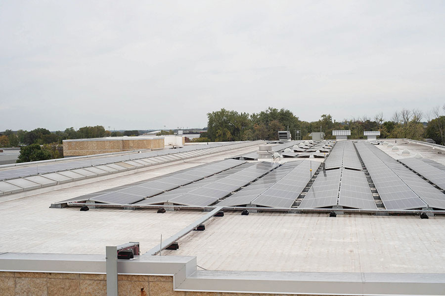 Solar panels have been on the roof of the Truax Campus for a year.