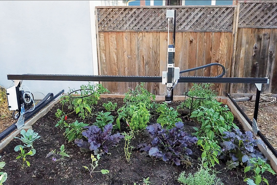 Madison College's STEM Center is adding a robotic farming machine called FarmBot, that works on raised garden beds.