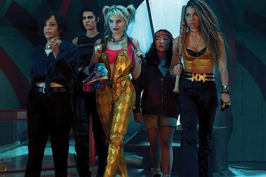 (L-r) Renee Montoya (Rosie Perez), Huntress (Elizabeth Winstead), Harley Quinn (Margot Robbie), Cassandra Cain (Ella Jay Basco) and Black Canary (Jurnee Smolett-Bell) in