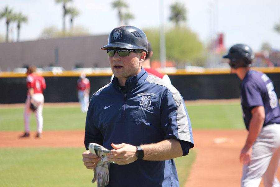 Trevor+Burmeister%2C+an+assistant+baseball+coach+at+Madison+College+for+more+than+three+years%2C+has+been+hired+by+the+Grand+Junction+Rockies+to+be+their+hitting+coach.