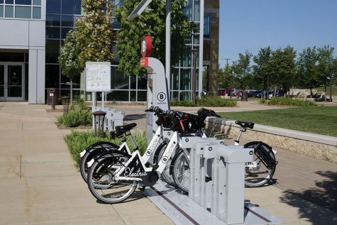 The BCysle station at Madison College's Truax Campus will re-open on March 15 with a full set of e-bikes.