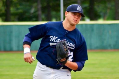 Former Madison College baseball player Kian O'Brien, joined the team this year as an assistant coach.