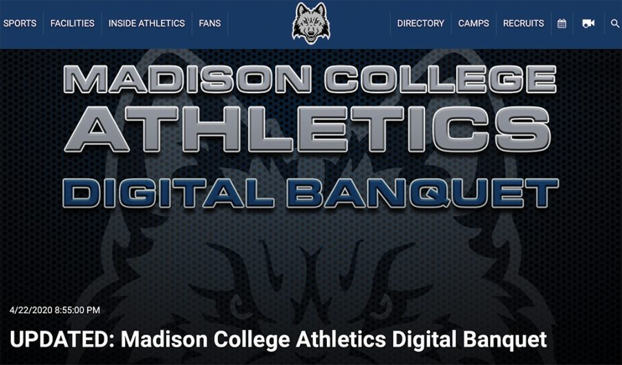 Madison+College+athletics+digital+banquet+announcement.