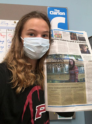 Anica Graney is the new editor in chief of The Clarion, Madison College's student newspaper.