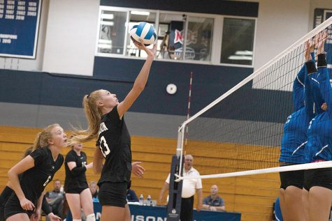 Madison College's volleyball team, show in action during the fall 2019 season, will have to wait until the spring semester to compete this year due to the COVID-19 pandemic.