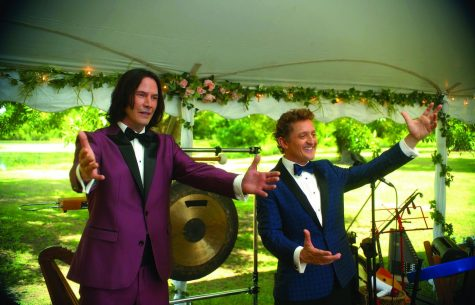 """Ted """"Theodore"""" Logan played by Keanu Reeves, left, and Bill S. Preston Esquire by Alex Winter return for """"Bill and Ted Face the Music."""""""