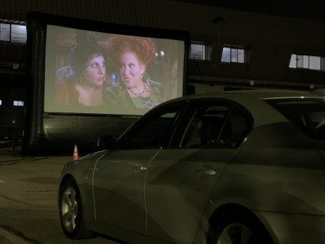 Movie night on campus