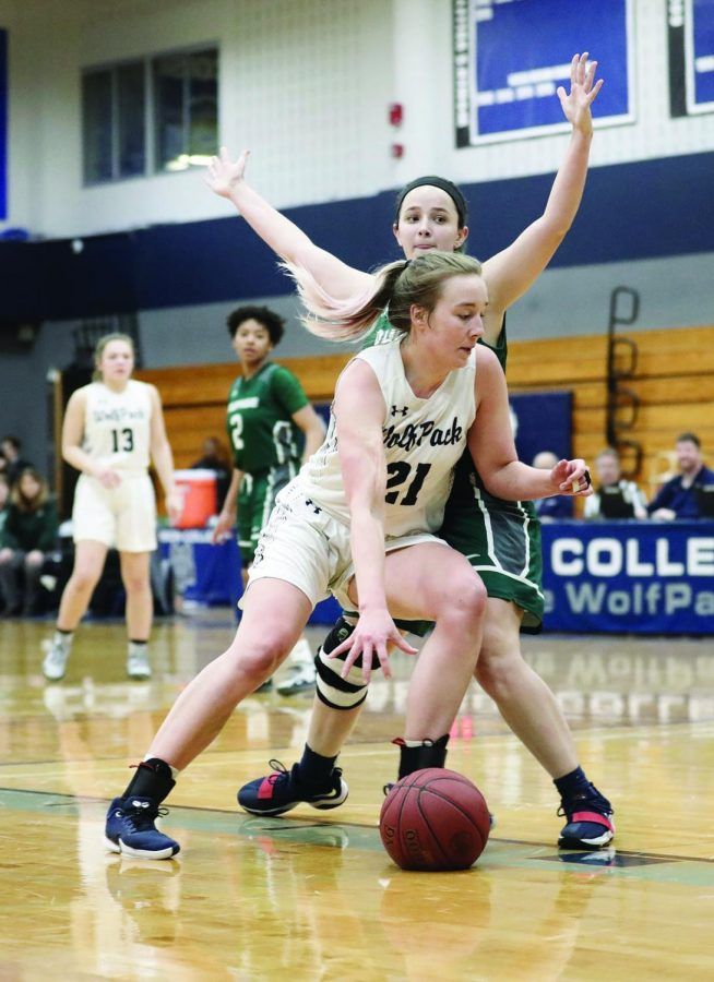 Madison College's Olivia Marron played basketball, and volleyball for the WolfPack during the 2019-2020 season.
