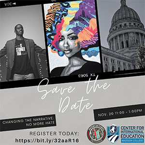 Changing the Narrative Conference is set for Nov. 20, 2020, at 11 a.m.