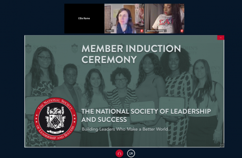 Screenshots from the NSLS induction ceremony.