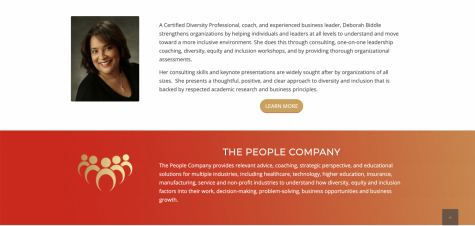 Deb Biddle, pictured above, founded The People Company to work with clients on diveristy, equity and inclusion.