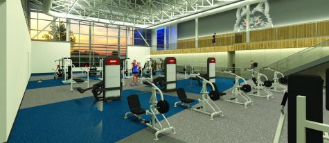 An architectural rendering depicts what the interior of new Madison College Fitness Center will look like once completed..