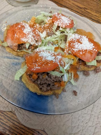 Savory sopitos served up on a plate.