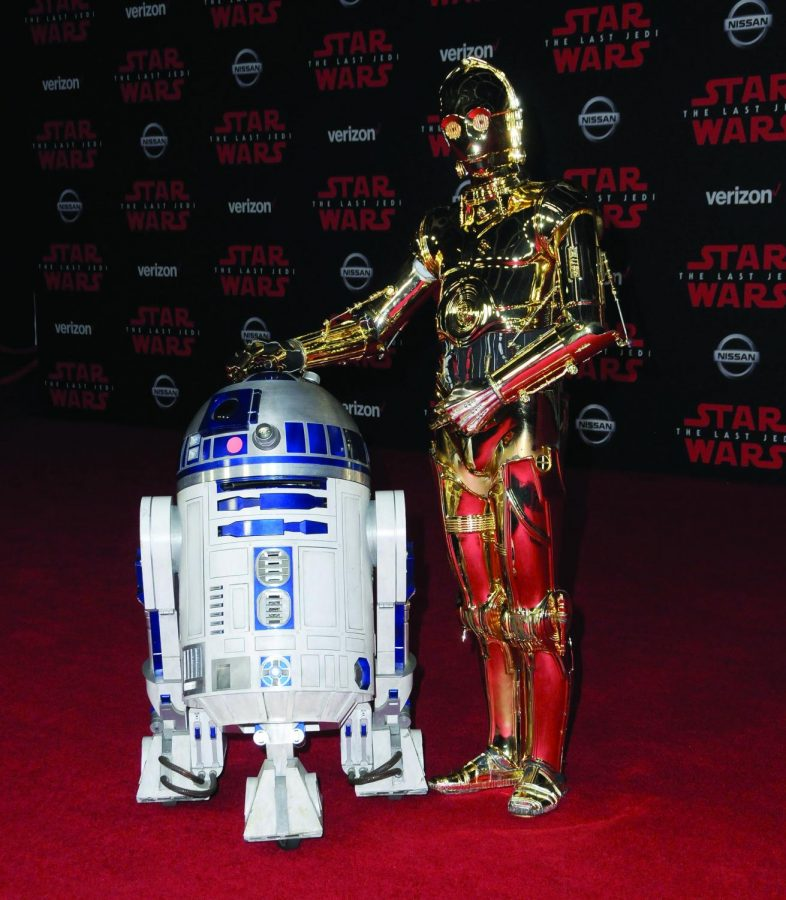 R2-D2 and C-3PO, characters from the
