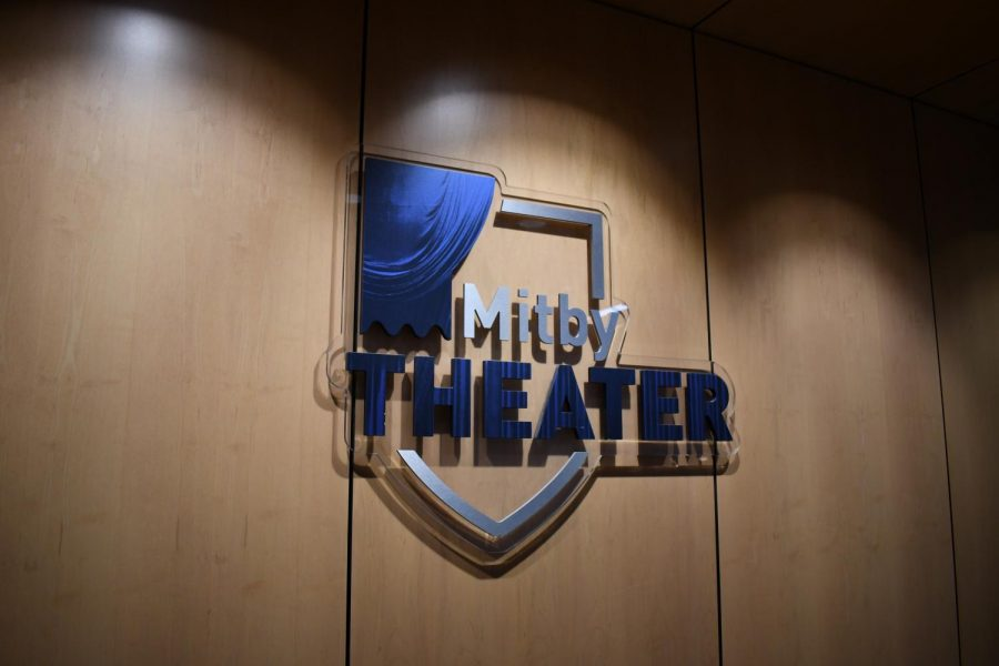 The Mitby Theater logo at Truax Campus.