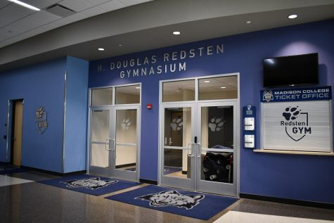 The Redsten Gymnasium where the wolfpack volleyball and basketball teams practice and play.