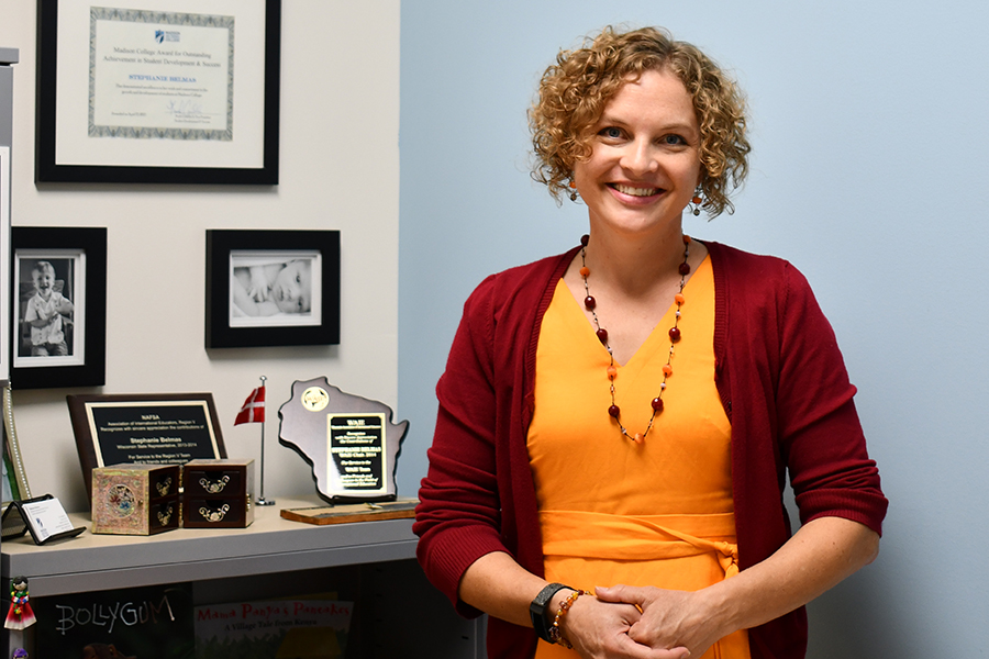 Stephanie Belmas is the new director of the Madison College Center for International Education.
